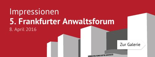 5. Frankfurter Anwaltsforum – Impressionen