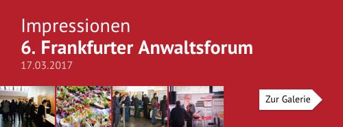 Impressionen – 6. Frankfurter Anwaltsforum