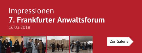 Impressionen – 7. Frankfurter Anwaltsforum