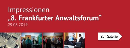 """Impressionen """"8. Frankfurter Anwaltsforum am 29.03.2019"""""""